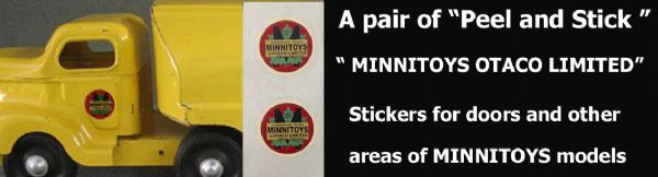 M10  MINNITOYS round logo door DECAL SET